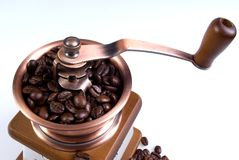 Clouse-up of ancient coffee grinder Royalty Free Stock Photo