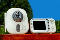 Close-up baby monitor. For security of the baby Stock Photo
