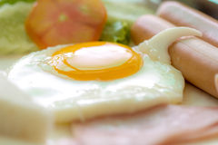 Clouse up fried egg Stock Photography