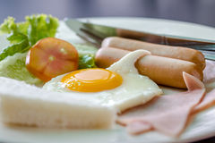 Clouse up fried egg Royalty Free Stock Photos
