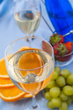 Clouse up of glass of white wine Royalty Free Stock Photography