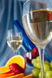 Clouse up of glass of wine Stock Photography