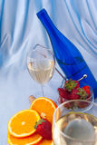 Clouse up of glass of wine Stock Image