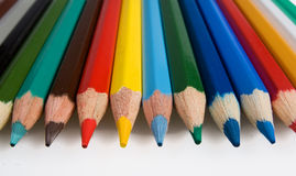 Clouse-up of group of color pencils Stock Image
