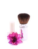 Clouse-up of makeup brush Royalty Free Stock Photos