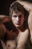 Clouse-up modèle masculin photographie stock libre de droits