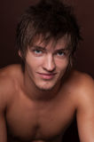 Clouse-up modèle masculin photo stock