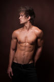 Clouse-up modelo masculino imagem de stock