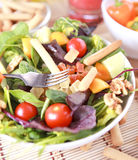 Clouse up Salad. Freshness and healthy close up salad Stock Photos
