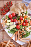 Clouse up Salad. Freshness and healthy close up salad Royalty Free Stock Image