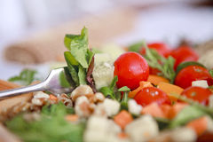 Clouse up Salad. Freshness and healthy close up salad Stock Images