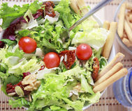 Clouse up Salad. Freshness and healthy close up salad Stock Photo