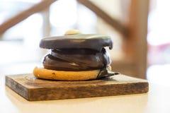 Clouse-up spagnolo delizioso del biscotto di alfajor immagini stock