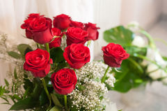 clouse vers le haut de bouquet de rose de rouge Image stock