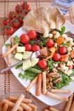 Clouse vers le haut de salade Image libre de droits