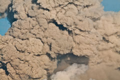 Clouse vulcânico da nuvem da cinza imagem de stock royalty free
