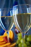 Clouseup of glasses of white wine Stock Images