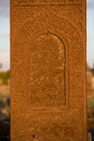 Clouseup of gravestone in Ahlat cemetery Royalty Free Stock Photo