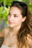 Clouseup portrait of a friendly brunette. Royalty Free Stock Photo