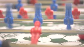 Clouseup table soccer, table football. People playing table football stock video