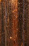 Clout nail in plank. The brown wood texture with natural patterns Stock Images