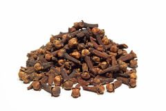 Clove. Dried clove on white background Royalty Free Stock Photography