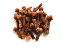Clove. Dried bulb Stock Photos