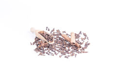 Clove, anis, cinnamon Royalty Free Stock Photos