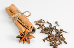 Clove, cinnamon and anise Royalty Free Stock Image