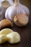 Clove garlic closeup Stock Images