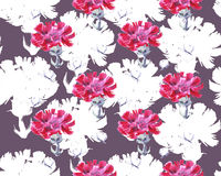 Clove graphic flower , pattern seamless Royalty Free Stock Image