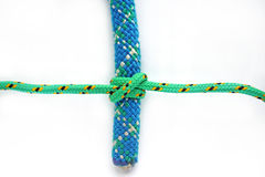 Clove hitch. One line tied around another Royalty Free Stock Photo
