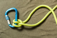 Clove hitch - knot. Royalty Free Stock Image