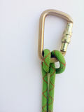 A clove hitch used in climbing mountain rescue or rappelling Stock Image