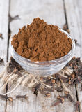 Clove Powder in a bowl Royalty Free Stock Image