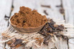 Clove Powder in a bowl. Clove Powder in a small bowl (close-up shot Stock Photos