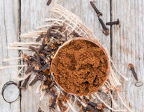 Clove Powder Stock Photo