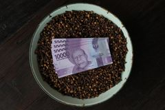 Clove Price Drop In Indonesia stock photography