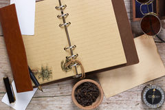 Clove spice and note pad Royalty Free Stock Images