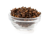 Clove spices in bowl Stock Photography