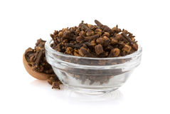 Clove spices in bowl Royalty Free Stock Images