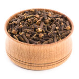 Clove spices in a wooden bowl Royalty Free Stock Photo