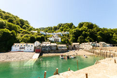Clovelly bay view Royalty Free Stock Photography