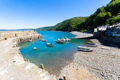 Clovelly bay view Stock Image