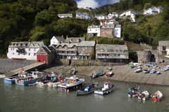 Clovelly - Devon - Reino Unido Imagenes de archivo