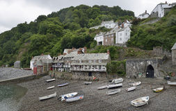 Clovelly Harbour Stock Images