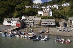 Clovelly - il Devon - il Regno Unito Immagini Stock
