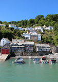 Clovelly, Nord-Devon, England stockbild