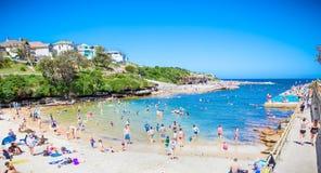 Clovelly sendy strand in Sydney, Australië Stock Foto's