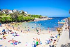 Clovelly sendy strand in Sydney, Australië Royalty-vrije Stock Foto
